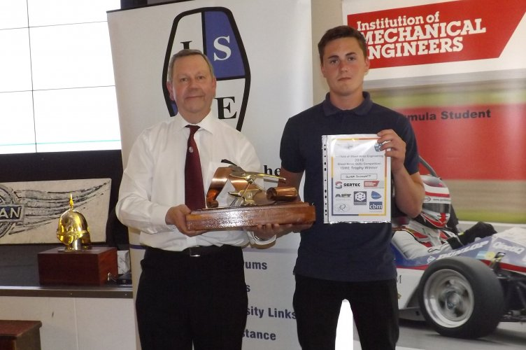 ISME Trophy Overall Winner Oliver Sluggett with Alan Shaw ISME President