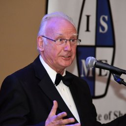 Pete Waterman with ISME Logo 2
